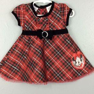 Disney Toddler Girls Holiday Dress Sz 12M